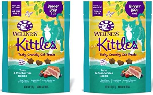 Wellness Kittles Cat Treat Value Pack – Tuna Cranberries Flavor – 6 oz Each 2 Pack