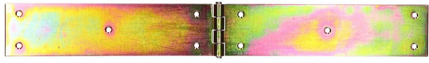 Scharnier Gerollte Tischband M/öbelscharnier Verzinkt Gold Torband M/öbelband T/ürscharnier 2 Fl/ügel Top-Qualit/ät KOTARBAU Kistenband 400 x 50 mm 10 St