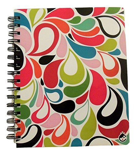 Studio C Carolina Pad The Sugarland Collection College Ruled 3-Subject Poly Cover Ideal Book (Flower Petals, 6.5 Inches x 8.75 Inches, 120 Sheets, 240 Pages)