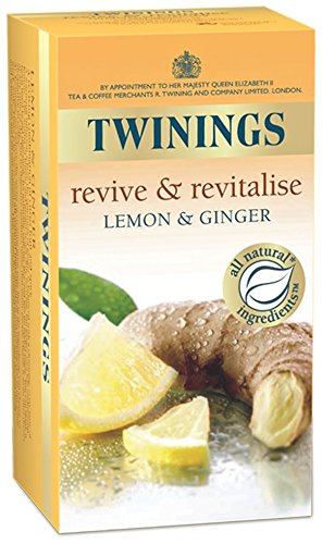 Twinings Infusion Tea Bags Individually-wrapped Lemon and Ginger Ref A01202 [Pack ()