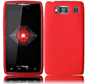 Red Silicone Jelly Skin Case Cover for Motorola Droid Razr HD XT926