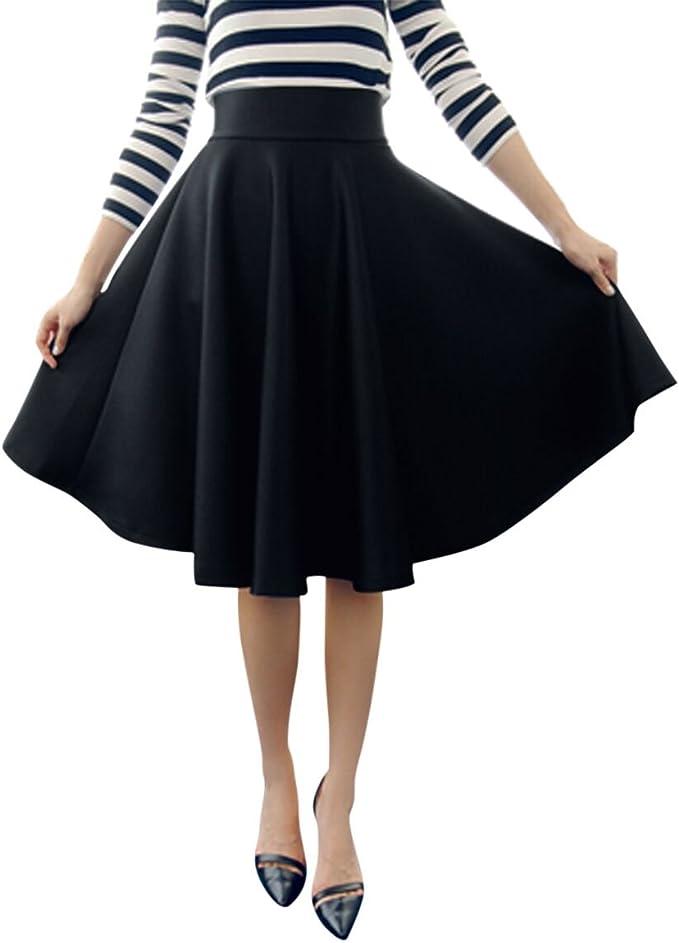 Hee Grand - Falda para mujer, para otoño o invierno, diseño retro ...