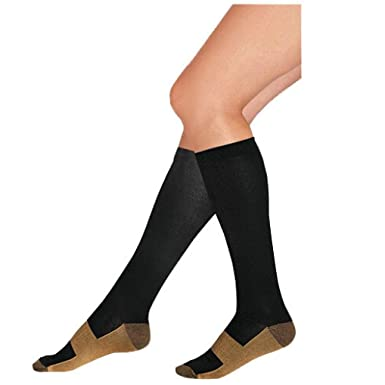 a28af6a30caeb1 Image Unavailable. Image not available for. Color: GBSELL New Unisex Relief  Soft Unisex Anti-Fatigue Compression Socks