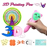 ARTISTORE 3D Pen for Kids-3D Doodler Drawing Pen 3D Printing Pen with LED Light, Stencils, Plastic Molds, Emoji Sticker, User Manual and 2 PCL Low-temperature Filaments Best Gifts for Christmas