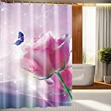 "LJ&L Printed Shower Curtain 3D Mildew Resistant Fabric Polyester Creative Home bathroom shower curtains,E,71""W*71""H"