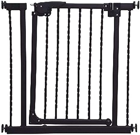 Barreras para puertas y escaleras Puerta de seguridad para niños Barandillas de escalera Valla para perros cerca de mascotas Puerta de aislamiento Perforadora libre Encrypted black Ancho de puerta 74-: Amazon.es: Hogar