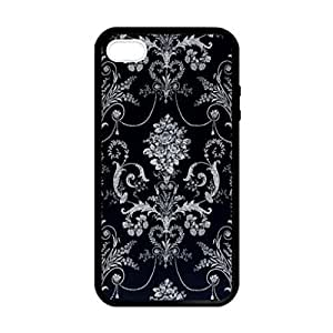 Floral Vintage Art Pattern Luxury VTG Image Protective Iphone 5s / Iphone 5 Case Cover Hard Plastic Case for Iphone 5 5s