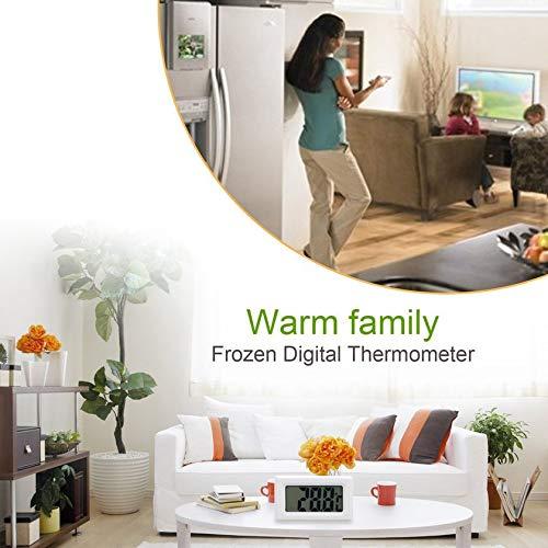 50~110 /° C Blanco GFGHH Mini port/átil ConvenientLCD Frigor/ífico Congelador Frigor/ífico Term/ómetro Digital Medidor de Humedad Temperatura