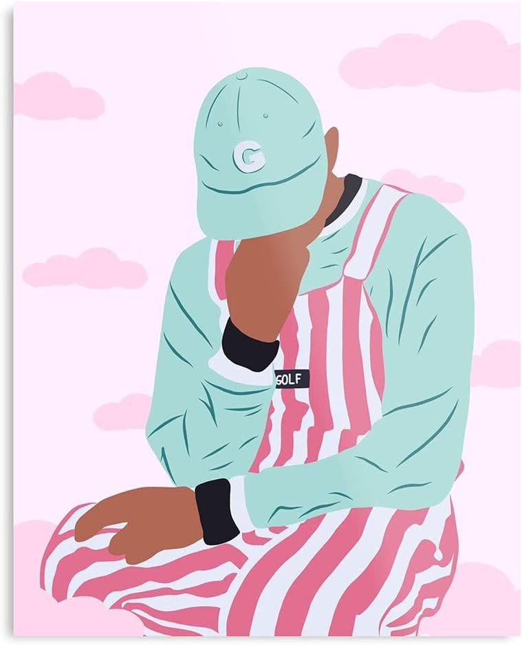Hiphop Tylerthecreator RNB Music Pink Pastel Blue Rap - The Best and Newest Poster for Wall Art Home Decor Room I - Customize