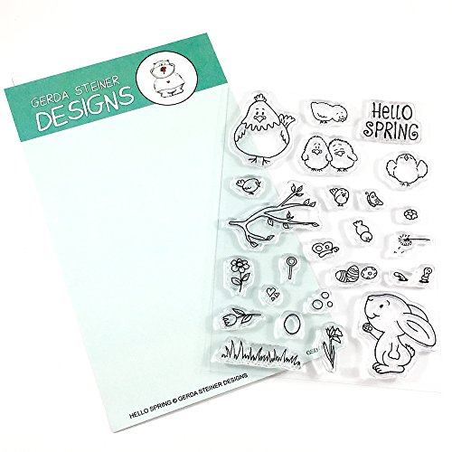 Hello Spring Clear Stamp Set 4x6 -