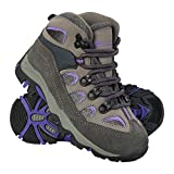 Mountain Warehouse Oscar Kids Walking Boots – Childrens Running Shoes Purple 13 Child US
