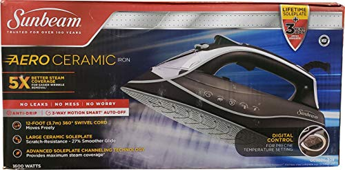 Sunbeam Aero Ceramic Digital Iron 1600 - Aero Bath