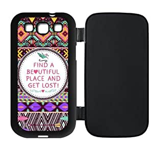 Colorful Aztec Tribal Pattern Rubber Flip Cover Case for SamSung Galaxy S3 Kimberly Kurzendoerfer