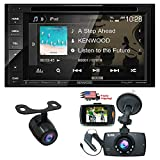 "Kenwood Audio DDX26BT 6.2"" Double Din Bluetooth WVGA Touch Screen DVD Receiver w/ 1080 HD Dash Cam Night Vision G-Sensor Video Recorder & HD Rear View Camera"