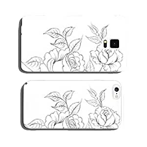 Single black rose ink painted. cell phone cover case iPhone6