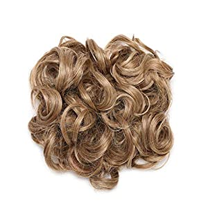 Scrunchy Hair Bun Messy Hair Bun Curly Synthetic Hairpiece For Women Hair Combs Clip In Hair Extension 12H24