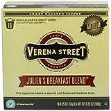 Verena Street Single Cup Pods (18 Count) Medium Roast Coffee, Julien's Breakfast Blend, Rainforest Alliance Certified Arabica Coffee, Compatible with Keurig K-cup Brewers