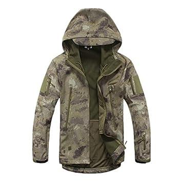 Militär Taktisch Kampf Soft Shell Jacken Draussen Camping Jagd Herren Wandern Tarnung Kapuzenpullover Mantel Coldstar