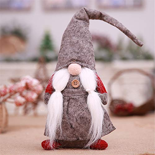 (Hot Sale!DEESEE(TM) 17 Inches Handmade Christmas Gnome Swedish Figurines Holiday Decoration Gifts (Gray))
