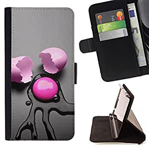 DEVIL CASE - FOR HTC DESIRE 816 - Pink Egg Abstract - Style PU Leather Case Wallet Flip Stand Flap Closure Cover