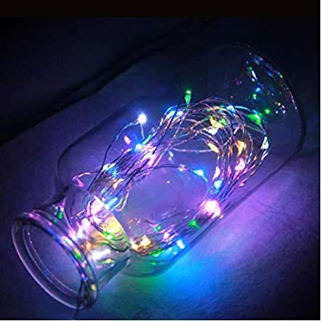 JNS WhOLESALE 3 m Battery Operated 30 LEDs Silver String LED Decorative Fairy Light  Multicolour