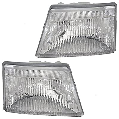 Driver and Passenger Headlights Headlamps Replacement for Ford Pickup Truck F87Z 13008 FB F87Z 13008 EB
