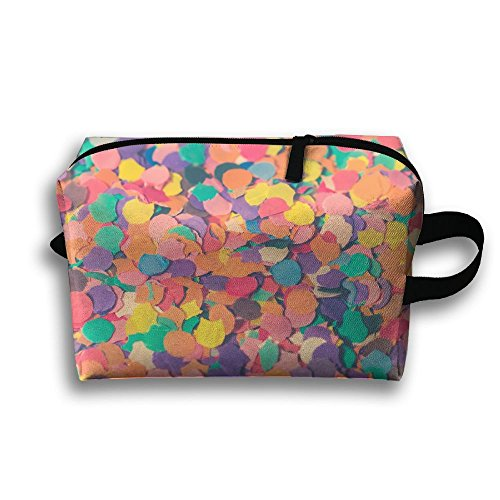 SO27Tracvel Multicolored Paper Love Toiletry Bag Dopp Kit Tactical Bag Accessories Travel Case