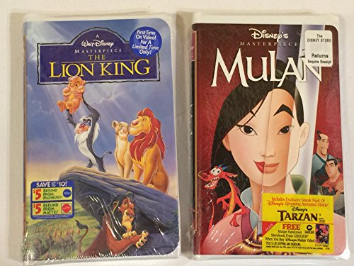 (**CHILDREN'S VHS: Walt Disney Home Video - The Lion King *PLUS FREE GIFT: Mulan *SHIPS SAME DAY WITH FREE TRACKING*)