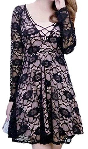 erdbeerloft - Vestido - vestido - para mujer negro