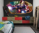 Startonight 3D Mural Wall Art Photo Decor the Power of Light Amazing Dual View Surprise Large Wall Mural Wallpaper for Living or Bedroom Movie Collection Wall Art 120 x 220 cm