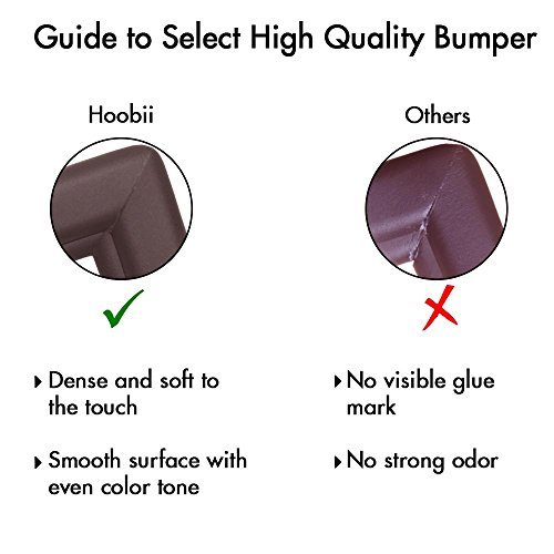 Edge Guard & Corner Protector - Extra Long 22.0ft [20.4ft Edge + 8 Corners] with Baby Proofing, Home Safety Furniture Bumper and Table Edge Guards Child Safety [Brown] by Hoobii (Image #5)