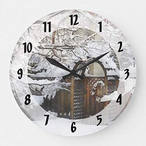 Thomas655 - Reloj Grande de jardín en Invierno: Amazon.es: Hogar