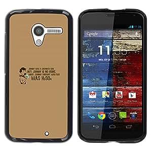 A-type Arte & diseño plástico duro Fundas Cover Cubre Hard Case Cover para Motorola Moto X 1 1st GEN I (Droguería Hijo H2SO4)