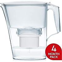Aqua Optima EJ0442 Liscia Water Jug + 2 Evolve 60 Day Filters, Plastic
