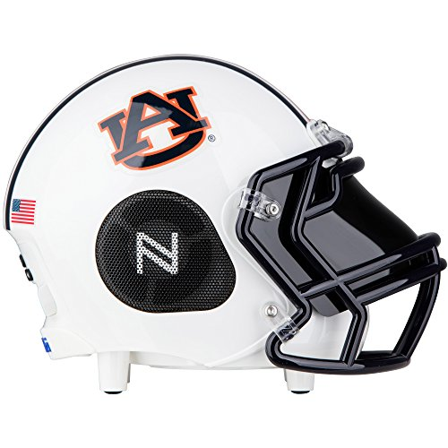 - Nima Athletics Portable Bluetooth Speaker, [Officially Licensed] NCAA College Football Helmet Wireless Stereo Speaker Built-in Mic, Loud HD Sound Bass (Small, Auburn Tigers)