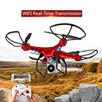 QingFan Quadcopter Drone with HD Camera RTF GPS 4 Channel 2.4GHz 6-Gyro with Altitude Hold Function,Headless Mode and One Key Return Home from QingFan