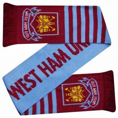 West Ham United Football Crest Scarf