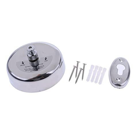 Laundry Dry Stainless Steel Wall Mounted Ropes Strong Clothes Washing Line Round