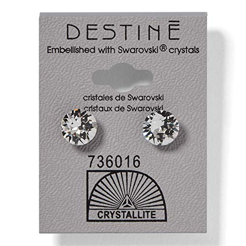 (Destine Austrian Crystal Stud Earrings)
