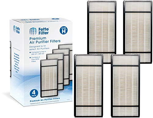 Fette Filter Pack of 4 Replacement Air Purifiers | Compatible with Honeywell HEPA Filter H, HRF-H1 HRF-H2 | Removes at Least 99.97% of Dust, Microbes, Pet Danger, and Allergens