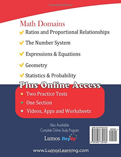 Counting Number worksheets grade 7 math probability worksheets : ACT Aspire Test Prep: 7th Grade Math Practice Workbook and Full ...