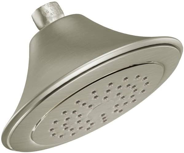 Moen S6335BN Rothbury 6-1 2 Single-Function Showerhead with 2.5 GPM Flow Rate, Brushed Nickel