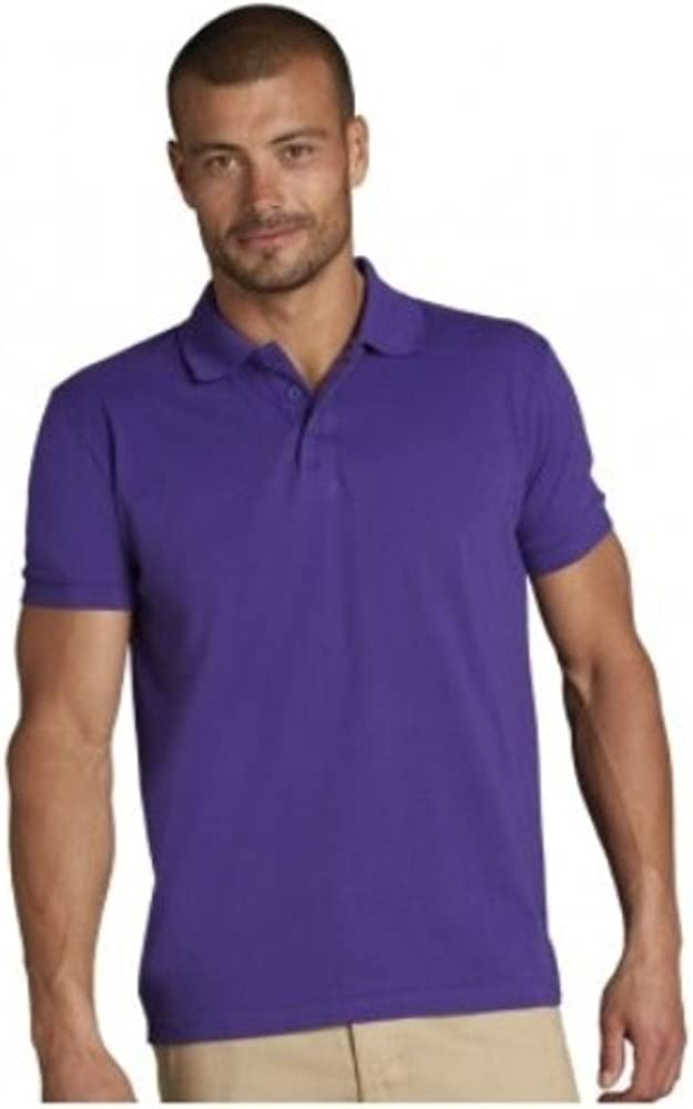 SOLS - Polo - para Hombre Marrón Granate XXX-Large: Amazon.es ...