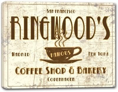 RINGWOOD'S Coffee Shop & Bakery Gallery Wrapped Canvas Sign 3 SIZES AVAILABLE - 24
