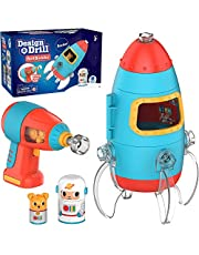 Educational Insights Design & Drill Bolt Buddies Rocket │Fine Motor Skills & STEM Toy │Perfect Drill Toy for 3+