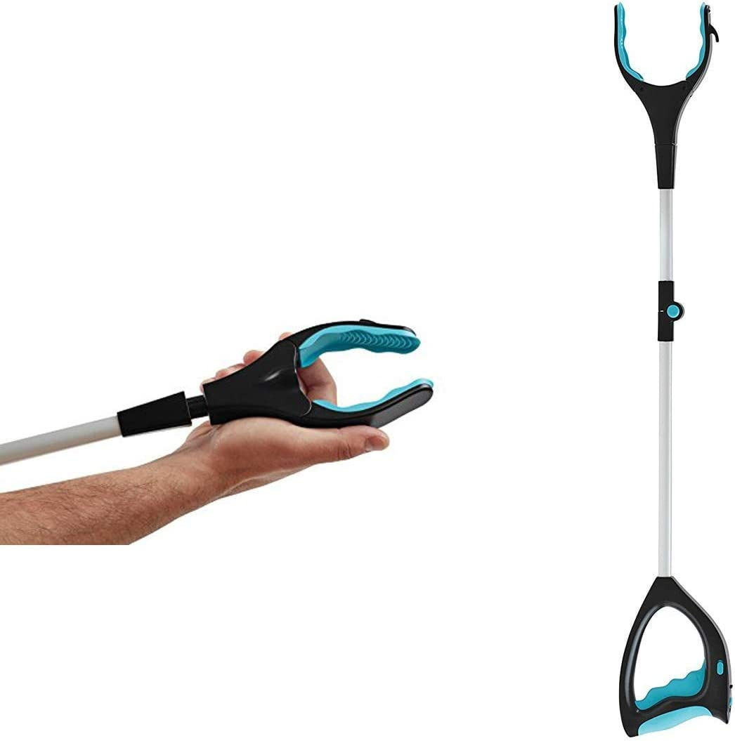 Pole with 360/° Rotating Clamp Lightweight Aluminium Frame Arm Extension Brush Grabber Tools for Collecting Objects Grabber + LED Ducomi Telescopic Folding and Extendible Clamp 81 cm with LED