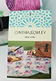 Cynthia Rowley Rose All Day Outdoor Picnic Blanket | 50 IN X 60 IN | Reversible/Water Resistant in Rolled Cloth Shoulder Bag