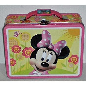 Amazon Com Disney Minnie Mouse Embossed Metal Lunch Box