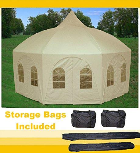20'x20' Octagonal Wedding Gazebo Party Tent Canopy Shade - By DELTA (Poly Octagon Window)