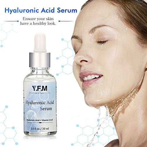 Hyaluronic Acid Serum, Vitamin C Serum for Face, LuckyFine Anti-Aging Serum for Anti Wrinkle, Facial Moisturizer for Dry Skin & Fine Lines Easy To Absorb 1.0 oz.